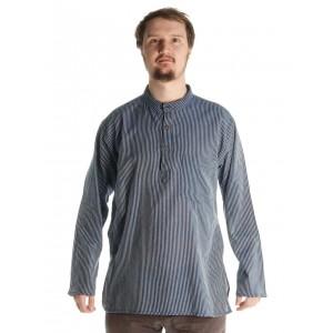 Fischerhemd dunkelblau-, weißgestreift