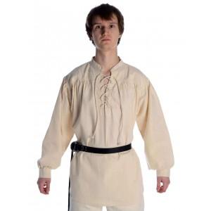 Schnürhemd Mittelalter-Hemden Stehkragen-Hemd
