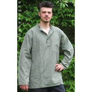 Fischerhemd dick grün-weißgestreift